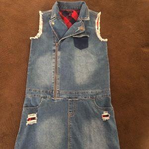 Girls Tommy Hilfiger Jean Dress Size XL 16